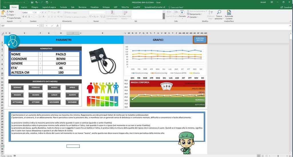 Controllo Calendario Excel 2020.Foglio Gratuito In Excel Per Monitorare La Pressione La